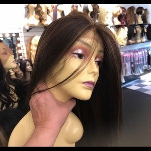 Accessories - Brown wig highlights Swisslace Lacefront 2019 Wig